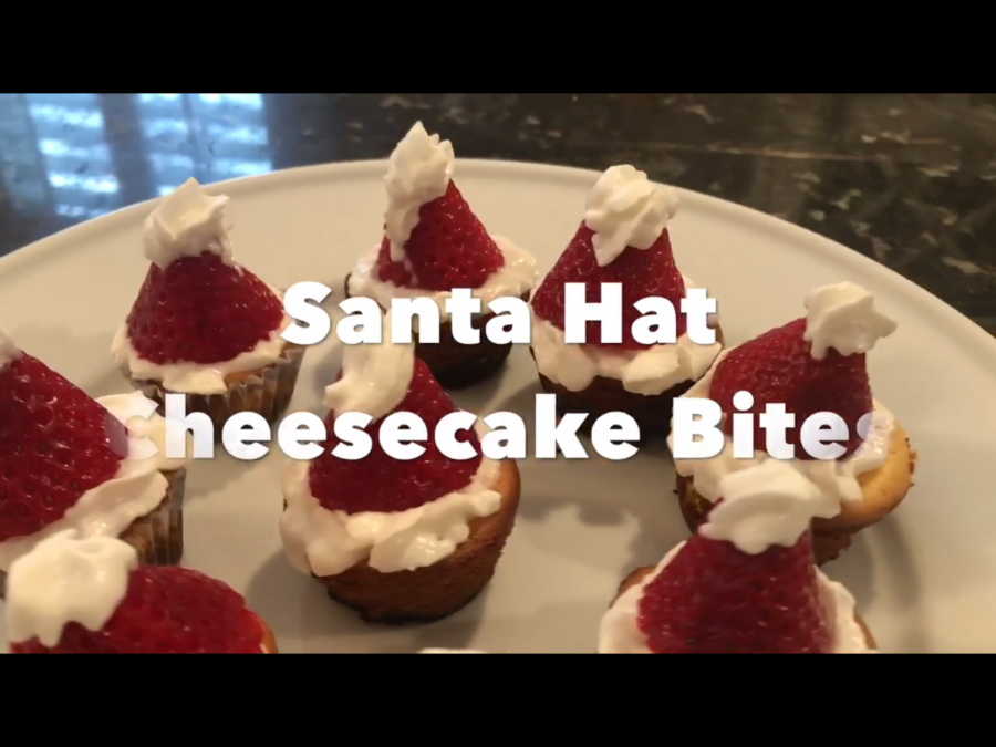 How to make Santa Hat Cheesecake Bites