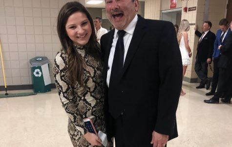 Senior Gabby Pluszczynski and her dad have been to every Mercy daddy daughter dance and spent her birthday celebrating each other. Photo by Dunya Kizy