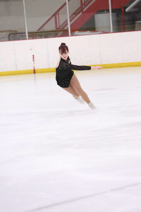 Junior Hannah Paulik glides on the ice with grace at Novi Ice Rink. Photo used with permission from Hannah Paulik