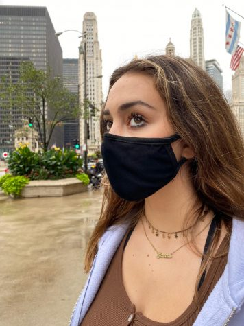 Masks are one of the most effective and simplest ways to prevent the spread of COVID-19. Junior Sarah Manjo makes sure to wear a mask whenever she goes out to keep herself and others safe.